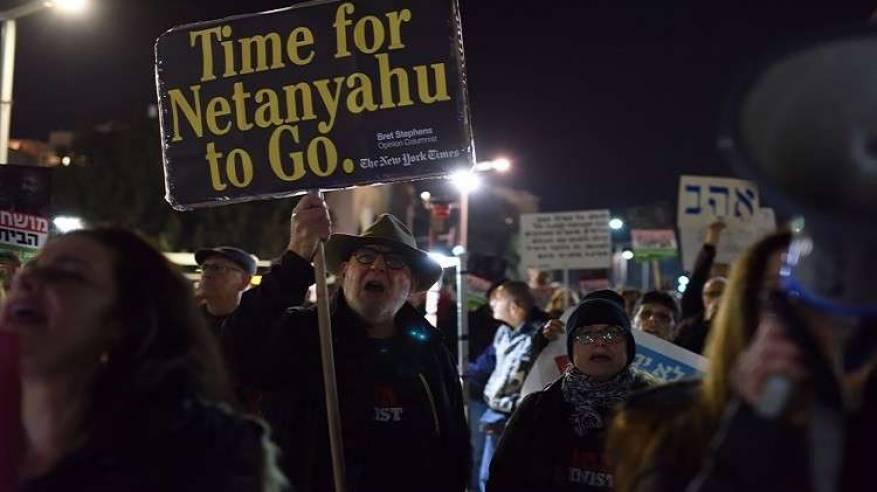 تظاهرات مؤيدة ومعارضة لنتنياهو في تل أبيب