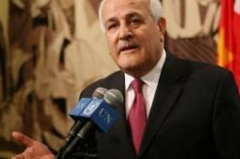 منصور يطلع وزير الخارجية الكوستاريكي على آخر التطورات السياسية