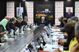 الرئيس خلال ترؤسه جلسة الحكومة: موقفنا واضح ولن نقبل استلام الأموال من اسرائيل منقوصة