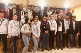 وفد جمعية الكشافة الفلسطينية القادم من فلسطين يزور مخيم البرج الشمالي