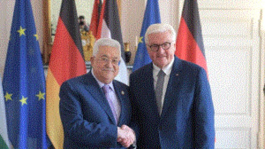 الرئيس يلتقي نظيره الألماني