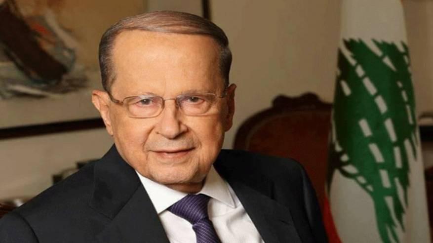 الرئيس اللبناني: علينا اليوم العودة لحمل شعار فلسطين