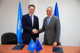 الاتحاد الأوروبي يوقع اتفاقية تبرع مع الأونروا بقيمة 82 مليون يورو