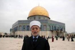 المفتي العام يدعو لإنقاذ المسجد الأقصى قبل فوات الأوان