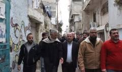 جولة تفقدية لرئيسد ائرة شؤون اللاجئين الدكتور احمد ابو هولي لمخيمات جنوب الضفة الغربية ولقائه مع رؤساء لجانها العشبية بتاريخ 24/2/2019 .