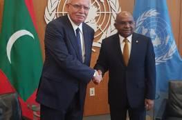 خلال لقائه رئيس الجمعية العامة.. المالكي يطالب الأمم المتحدة بوضع آليات لتنفيذ قراراتها الخاصة بفلسطين