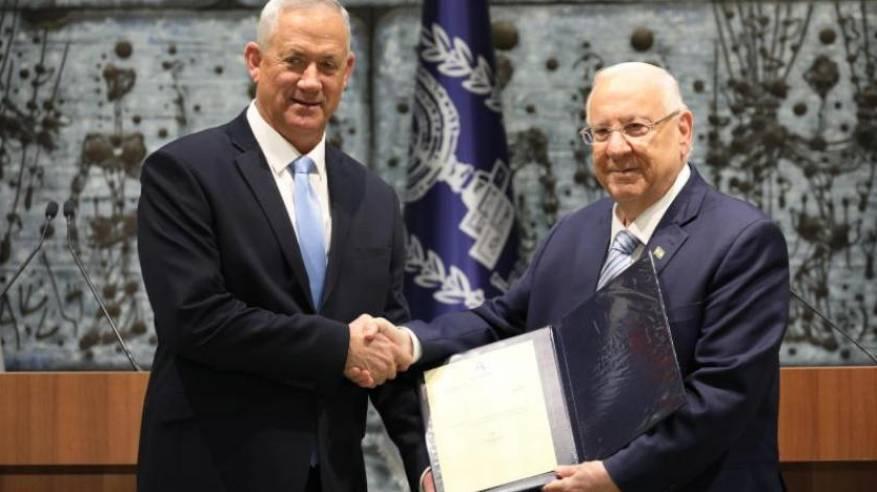 تكليف غانتس بتشكيل الحكومة الإسرائيلية الجديدة