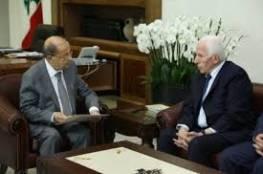 الأحمد يطلع الرئيس اللبناني على الأوضاع في الأرض الفلسطينية المحتلة