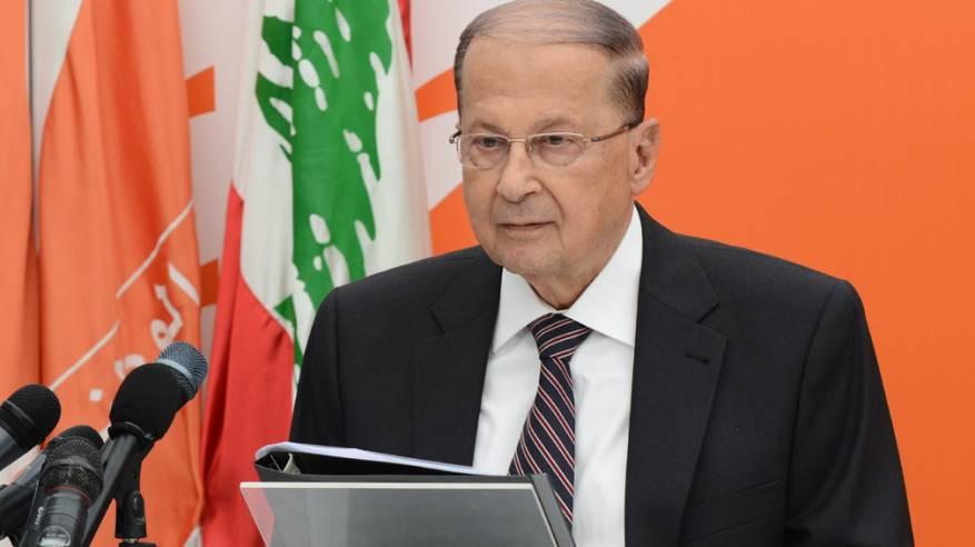 """عون: قطع التمويل عن """"أونروا"""" يشكّل بداية توطين الفلسطينيين بلبنان"""