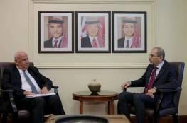 عريقات والصفدي: طريق السلام الشامل بتلبية الحقوق الفلسطينية المشروعة