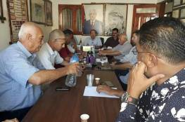 اللجنة الشعبية بمخيم خانيونس  تنظم لقاء عمل لحل مشاكل مخيم خان يونس