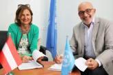 الحكومة النمساوية توقع اتفاقيات بقيمة 7,7 مليون يورو لدعم موازنة الأونروا البرامجية ومناشدة الطوارئ للأزمة الإقليمية في سوريا