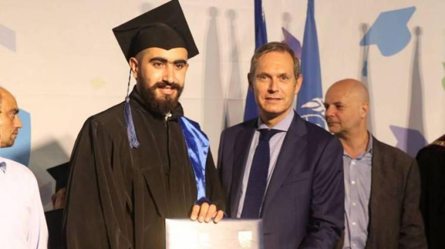 432 طالباً وطالبة يتخرجون من مركز سبلين للتّدريب بدعم من الإتحاد الأوروبي