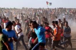 إصابات بالاختناق جراء قمع الاحتلال مسيرات سلمية بذكرى النكبة في غزة