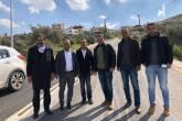 شؤون اللاجئين بالمنظمة تنجز مشروع تعبيد شارع المنتزه بمخيم جنين