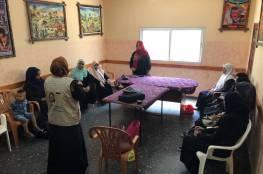 اللجنة الشعبية بمخيم النصيرات تنظم لقاء تحسين الصحة النفسية للنساء المتضررات من أحداث مسيرات العودة