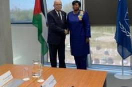 المالكي يسلم المدعية العامة للجنائية الدولية تقريرا حول جرائم اسرائيل عام 2018