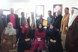 الدكتور احمد ابو هولي يستقبل اللجنة الشعبية للاجئين مخيم خان يونس