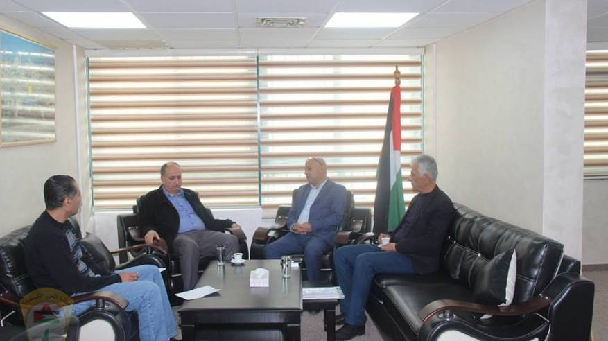 د. ابو هولي يبحث مع جبهة التحرير الفلسطينية التحديات التي تواجه قضية اللاجئين