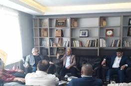 أبو هولي يزور مقر اتحاد رجال الاعمال الفلسطيني التركي