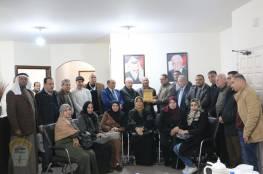 رئيس دائرة شؤون اللاجئين يستقبل وفد اللجنة الشعبية للاجئين بمخيم الشاطئ