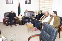 خلال لقائه وفدا من جبهة التحرير الفلسطينية : د. أبو هولي صفقة القرن لن تمر