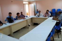 اللجنة الشعبية بمخيم شعفاط تلتقي وفد من الأونروا واخر من دائرة شؤون اللاجئين