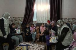 انطلاق حملة لجنة المرأة للتوعية والارشاد النفسي بدير البلح (خليك بالبيت)