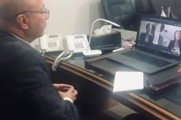 د. أبو هولي يلتقي بمساعد وزير الخارجية الأمريكي لشؤون الاسكان واللاجئين والهجرة ريتشارد اولبرايت