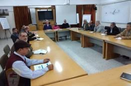 رؤساء اللجان الشعبية للاجئين بالمحافظات الجنوبية يلتقون بمدير عمليات الأونروا بغزة ماتياس شمالي