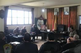 شؤون اللاجئين في لبنان تلتقي اللجنة الشعبية في مخيم المية ومية