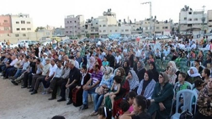 مهرجان جماهيري في مخيم بلاطة دعما للرئيس والمنظمة ورفضا لسلخ قطاع غزة عن الوطن