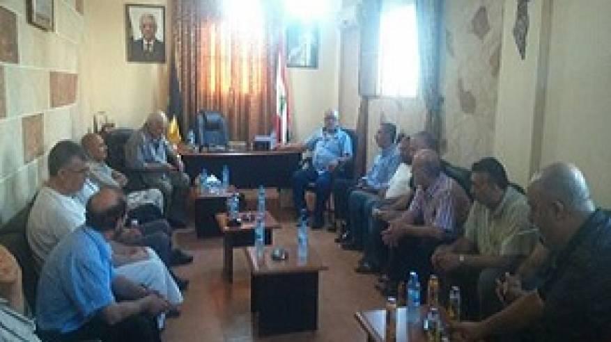 اللواء ابو عرب قائد الامن الوطني الفلسطيني يستقبل وفدا من اهالي لوبية