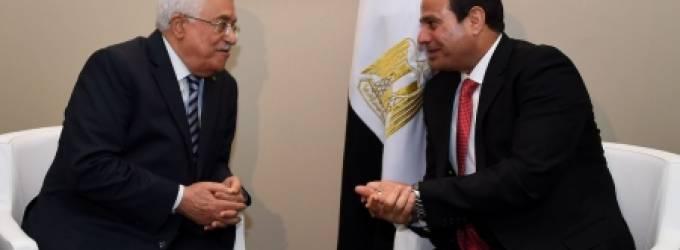 محمود عباس والسيسي