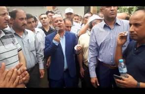 كلمة الدكتور احمد ابو هولي خلال زيارته  لخيمة اعتصام العاملين في وكالة الغوث  ج 2