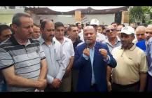 كلمة الدكتور احمد ابو هولي رئيس دائرة شؤون اللاجئين خلال زيارته  لخيمة اعتصام العاملين المنتهية عقودهم في وكالة الغوث  ج 1